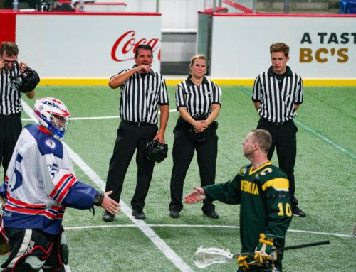 Schiedsrichter bei den Indoor Lacrosse Weltmeisterschaften