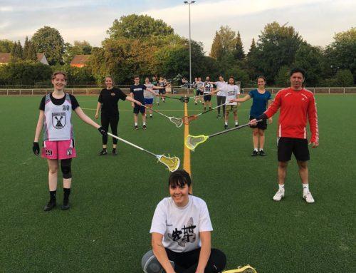 Lacrossetraining mit Kontaktbeschränkung
