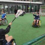 Lacrosse zu Gast beim Rollstuhl-Hockey in Bochum